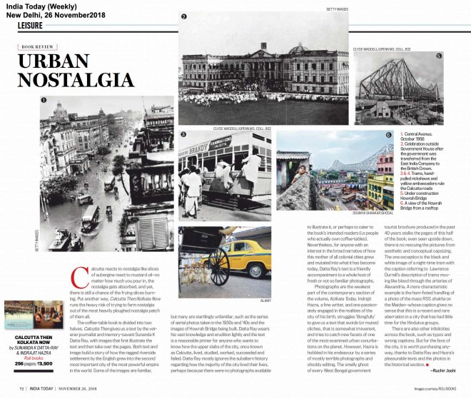 CALCUTTA THEN KOLKATA NOW, India Today (Weekly), New Delhi, Nov2618.jpg